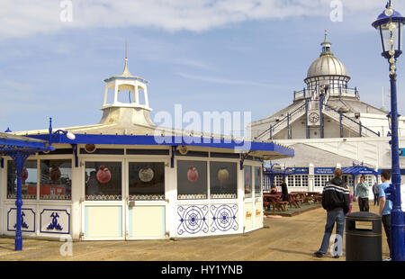 The wellknown Pier at the popular beachside resort of Eastbourne in East Sussex, South England. - Stock Photo