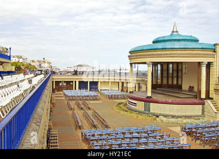 The Bandstand at the popular beachside resort of Eastbourne in East Sussex, South England. - Stock Photo