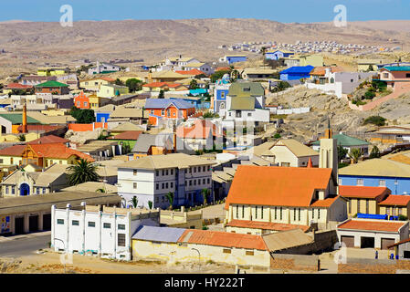 Image of the German heritage port town of L¸deritz in Namibia. - Stock Photo