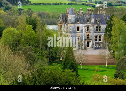 This stock photo shows the wellknown Blarney House, near the legendary Blarney Castle. The image was taken on a - Stock Photo