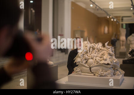 London, UK. 31st March 2017. Three of British artist Rachel Kneebone's sculptures are presented in the Hintze Sculpture - Stock Photo