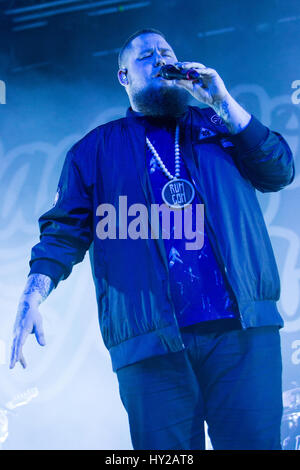 Milan, Italy. 30th Mar, 2017. Rory Graham better known as RAG'N'BONE MAN performs live on stage at Fabrique during - Stock Photo