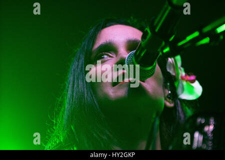Gijon, Spain. 31st March, 2017. American-born Mexican songwriter, Julieta Venegas, perfoms live during Gijon Music - Stock Photo