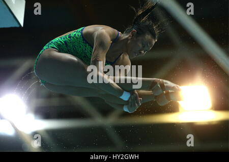 Kazan, Russia. 1st Apr, 2017. Malaysia's Pandelela Pamg competes in the women's 10m platform final at the 2017 FINA/NVC - Stock Photo