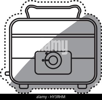 toaster clipart black and white. toaster household appliances vector icon illustration colored - stock photo clipart black and white
