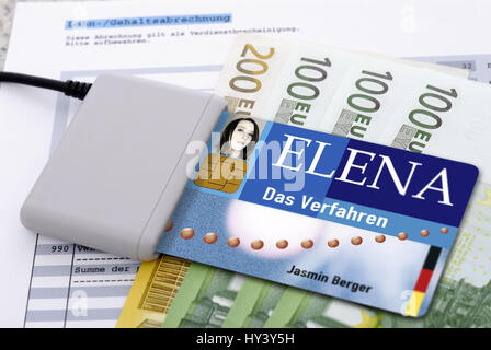 Elena, electronic income proof, picture assembly, , elektronischer Einkommensnachweis , Bildmontage - Stock Photo