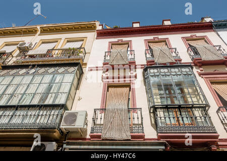 SEVILLE, SPAIN - JUNE 1, 2016: People and buildings on a beautiful day in Seville, Spain. - Stock Photo