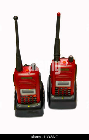 two radio communication for the better Talking on distance - Stock Photo