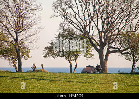 Camper, Fehmarn island - Stock Photo