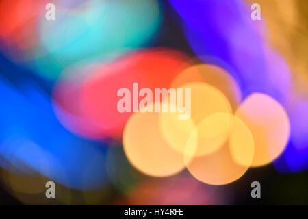 Bokeh Balls, colored lights, lens flares, reflections - Stock Photo