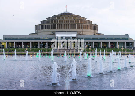 Poland, Wroclaw, Breslau, the Breslau Centennial Hall, built in 1911-1913 by a draught of the architect Max Berg, - Stock Photo