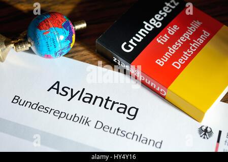 Asylum application, symbolic photo, Asylantrag, Symbolfoto - Stock Photo