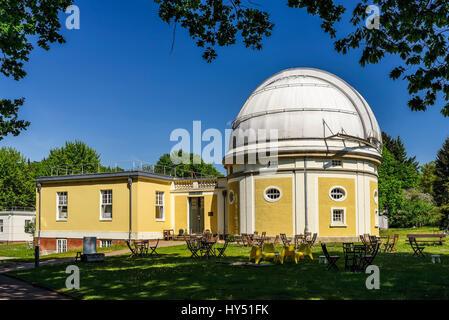Observatory of Hamburg, building of the 1-m-reflecting telescope in mountain village, Hamburg, Germany, Europe, - Stock Photo