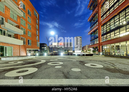 Office houses and dwelling houses in the harbour city of Hamburg, Germany, Europe, Buero- und Wohnhaeuser in der - Stock Photo