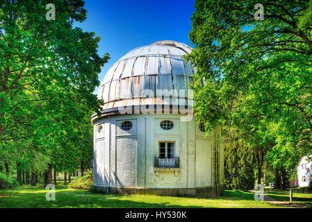Observatory of Hamburg, big refractor in mountain village, Hamburg, Germany, Europe, Sternwarte Hamburg, Gro?er - Stock Photo