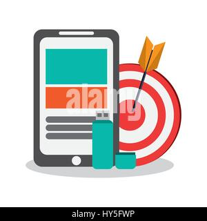 smartphone device design - Stock Photo
