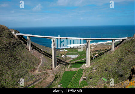 Puente de Silva, Spain's highest bridge, Barranco Hondo, Gran Canaria, Canary Islands, Spain - Stock Photo