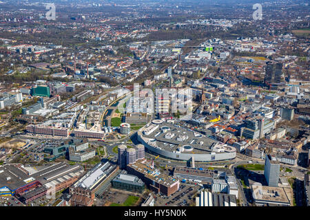 Funke Media Campus Essen, Berliner Platz, shopping center ECE Limbecker Platz, Green Center Essen, Ruhr district - Stock Photo