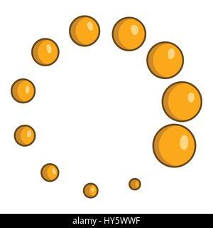Click circle icon, cartoon style - Stock Photo