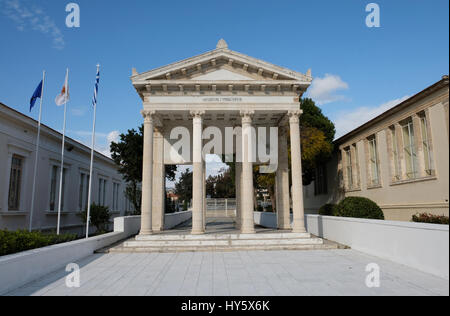 Historical temple ruins in the city centre of Paphos, Cyprus - Stock Photo