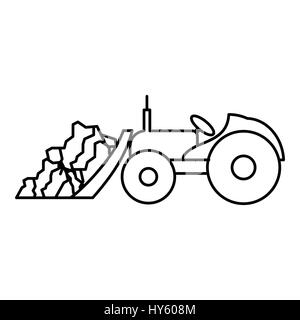 Tractor icon outline style Stock Vector Art  Illustration