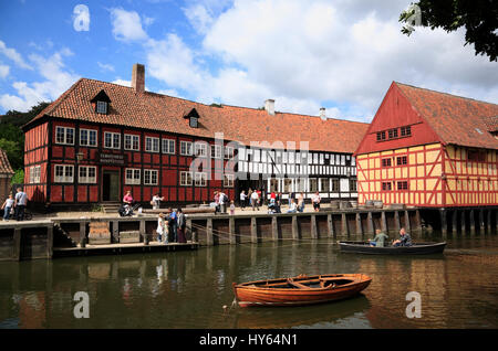 Open air museum The OLD TOWN ( GAMLE BY), Aarhus, Denmark, Scandinavia, Europe - Stock Photo