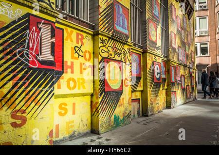 Alphabet House\', Street art by artist, Ben Eine - colourful alphabet ...