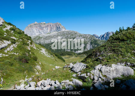 Steinernes Meer and Rote Wand, Lech Mountains, Vorarlberg, Austria - Stock Photo