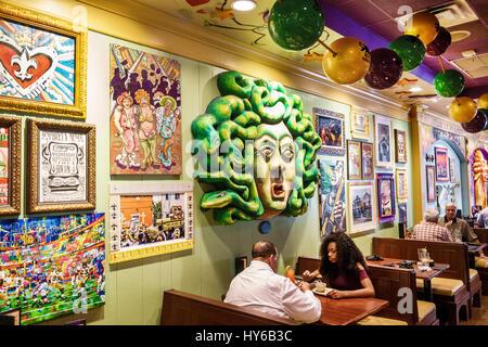 ... Winter Park Orlando Florida Tibbyu0027s New Orleans Kitchen Restaurant  Interior Carnival Theme Decor Booth Man Black