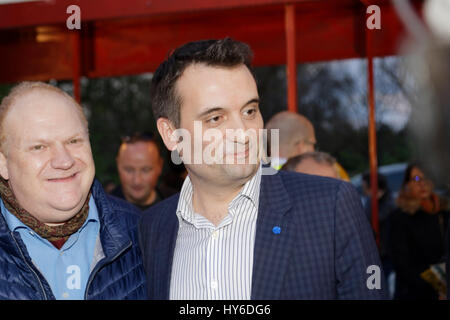 Florian Philippot,Franck de La Personne attend at Opening evening of the  Throne Fair for the benefit of the Association - Stock Photo