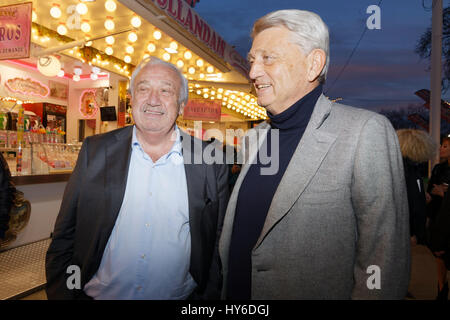 Marcel Campion and Alain Madelin attend at Opening evening of the 2017 Throne Fair for the benefit of the Association - Stock Photo