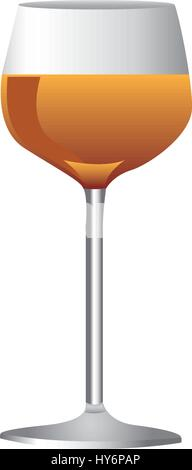 colorful realistic wine drink cocktail glass - Stock Photo