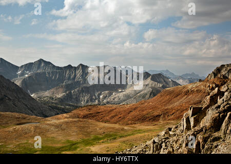 CA03156-00...CALIFORNIA - View from the combined JMT/PCT on the north side of Pinchot Pass in the High Sierra section - Stock Photo