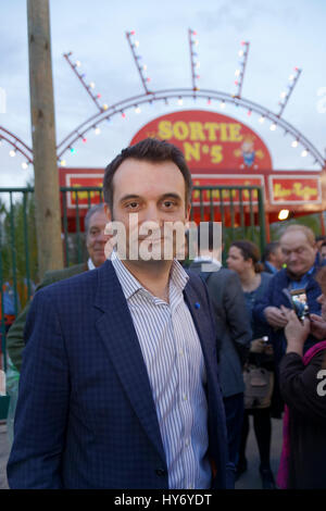 Paris, France.31th March, 2017. Florian Philippot attends at Opening evening of the 2017 Throne Fair Paris, France.©V - Stock Photo