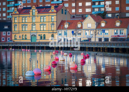 Urban buildings in Karlskona, Sweden ..... Karlskrona is a locality and the seat of Karlskrona Municipality, Blekinge - Stock Photo