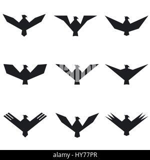 Eagle symbol set - Stock Photo