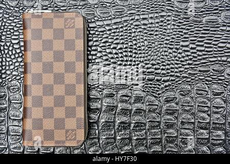 Louis Vuitton zippy wallet - Stock Photo
