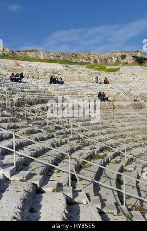 Teatro Greco, Neapolis, Syracuse, Sicily, Italy, Syrakus, Sizilien, Italien - Stock Photo