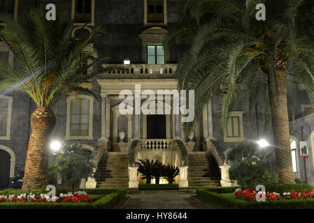 Universita Degli Studi Tu Catania, Piazza Universita, Catania, Sicily, Italy, Universita Degli Studi Di Catania, - Stock Photo