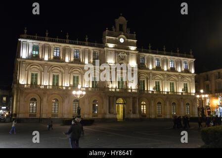 Universita Degli Studi Tu Catania, Piazza Universita, Catania, Sizilein, Italy, Universita Degli Studi Di Catania, - Stock Photo