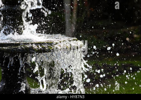 Garden water feature - Stock Photo