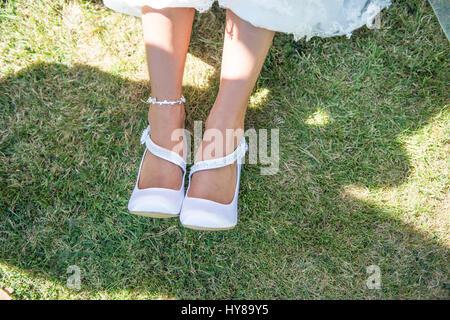A bride's shoes - Stock Photo
