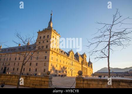 Royal Monastery. San Lorenzo del Escorial, Madrid province, Spain. - Stock Photo