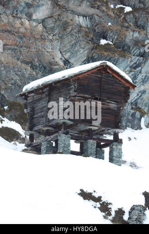 wooden hut near mountain - photo #36