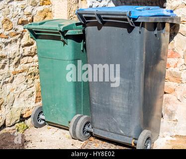 Two Refuse bins - Stock Photo