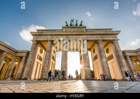 Brandenburg Gate, Pariser Platz, Berlin-Mitte, Berlin, Germany - Stock Photo