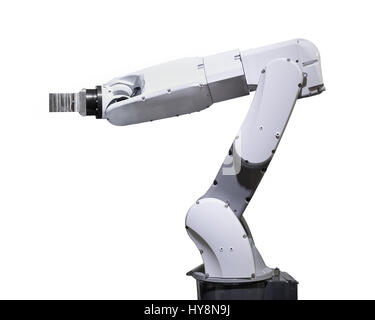 Industry robotic arm isolated included clipping path - Stock Photo