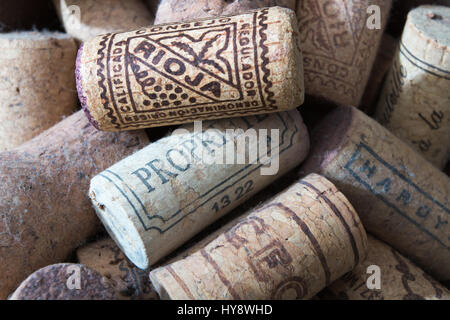 CORKS: Old corks from wine bottles - Stock Photo