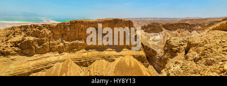 Judaean Desert near Dead Sea - Israel - Stock Photo