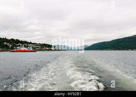 Gourock to Dunoon Ferry, Sound of Shuna, Firth of Clyde, Scotland. - Stock Photo